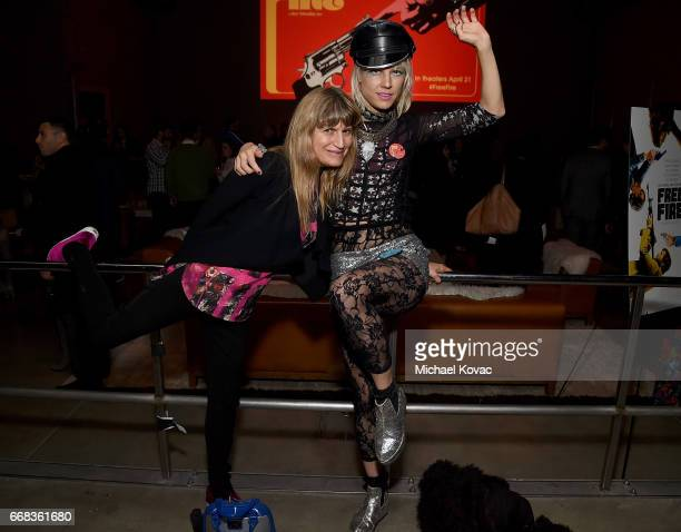 Performance artist Kate Crash and director Catherine Hardwicke attend the after party for The Los Angeles Premiere Of 'Free Fire' Presented By Casa...