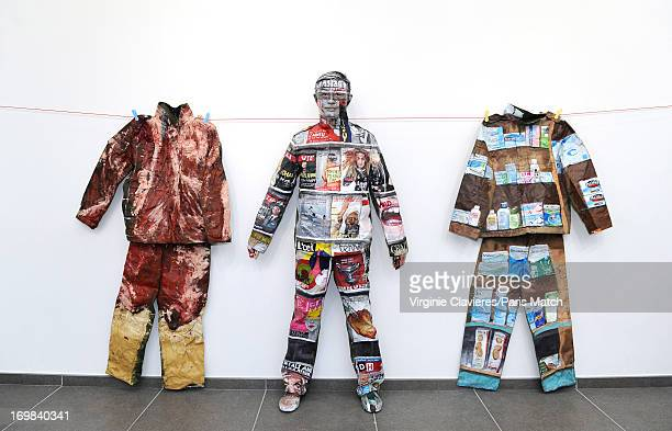 Performance artist Liu Bolin is photographed for Paris Match on May 24 2013 in Brussels Belgium