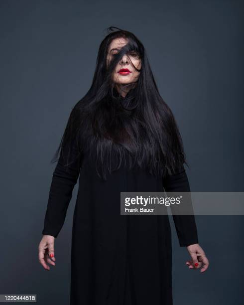 Performance artist Marina Abramovic is photographed for SZ magazin on April 25, 2020 in Munich, Germany.