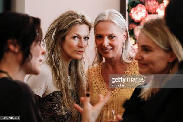 Performance artist Mia Florentine Weiss and model Petra van Bremen during the Emotion Award at Curio Haus on June 28 2018 in Hamburg Germany
