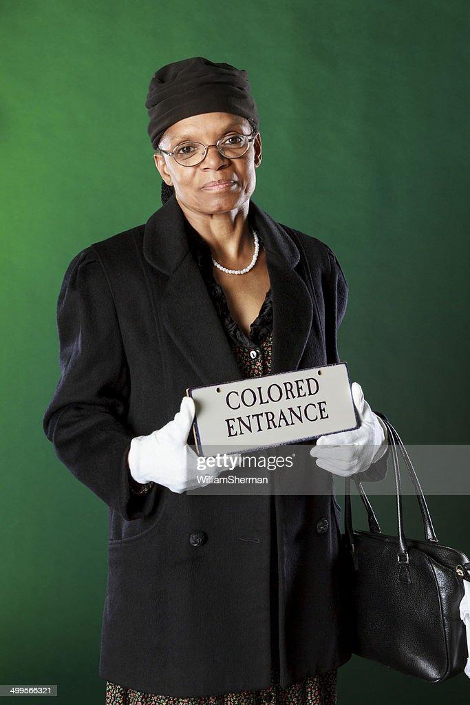 Performance Artist Portraying Rosa Parks : Stock Photo
