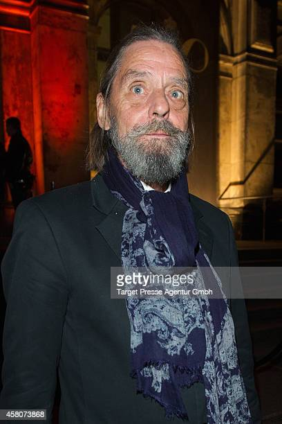 Performance artist Ulay attends the 10th anniversary celebration of the Zoo Magazine at Naturkundemuseum on October 29 2014 in Berlin Germany