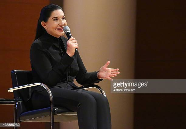 Performance artist/honoree Marina Abramovi attends Brooklyn Museum's Women In the Arts Luncheon on November 5 2015 in Brooklyn New York