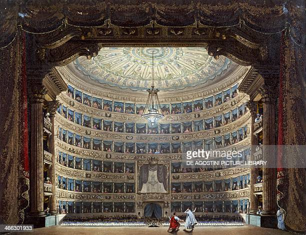 Performance at Teatro alla Scala in Milan Italy 19th century