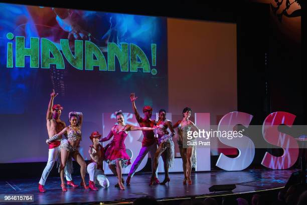 Performance by ÁHAVANA an exclusive production created for Norwegian Bliss on board during christening ceremony at Pier 66 on May 30 2018 in Seattle...
