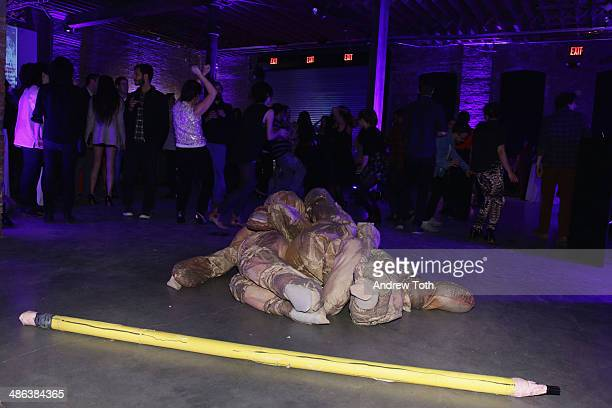 A performance by Molly Lowe during the Recess Art Space 5th Anniversary at Pioneer Works Center for Arts Innovation on April 23 2014 in the Brooklyn...