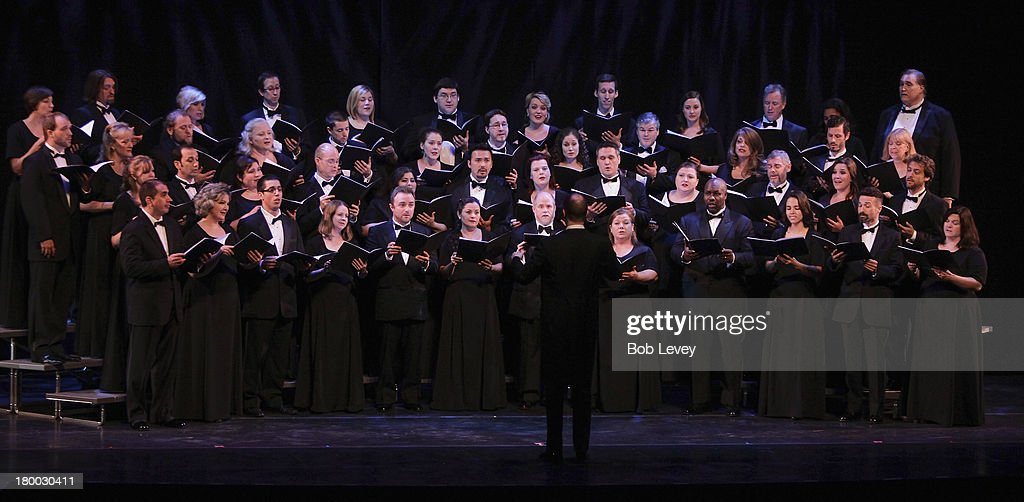 Performance by the Houston Grand Opera Chorus during The UNICEF Audrey Hepburn Society Ball at Wortham Center Brown Theater on September 6, 2013 in Houston, Texas.