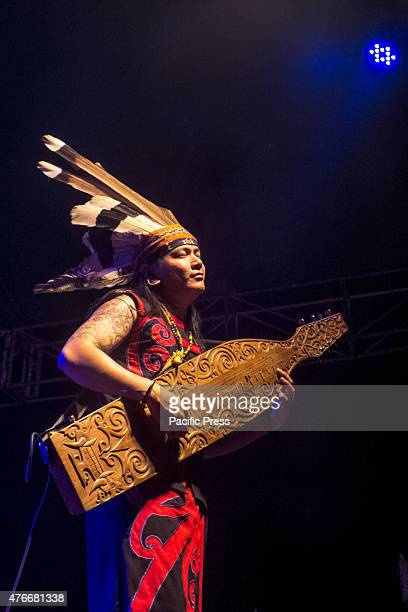 A performance called 'sapek' a traditional musical from the Dayak who appeared at the closing event Gawai Naik Dango Naik Dango is an expression of...