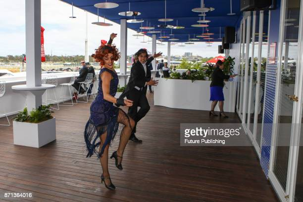 A performance inspired by The Great Gatsby in the Emirates Marquee at the Melbourne Cup Carnival on November 7 2017 in Melbourne Australia Chris...