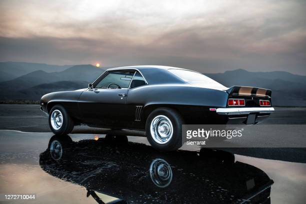performance muscle car - prestige car stock pictures, royalty-free photos & images