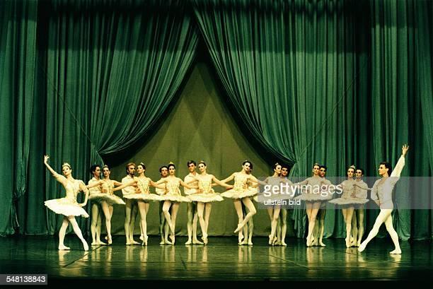 Performance of Alexander Glasunov's ballet 'Raymonda' in the Deutsche Oper Berlin scene with Lisa Cullum Yannick Boquin and the Corps de ballet