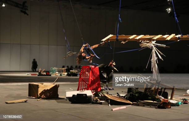 Performance of 'Autorreconstruccion To Insist to Insist to Insist' presented by Art Basel and The Kitchen with Philipp Kaiser produced by Mexican...
