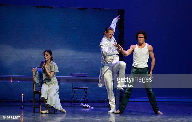 Performance of John Neumeier's ballet 'Liliom' with Carsten Jung as 'Liliom' Alina Cojocaru as 'Julie' and Edvin Revazov in the Hamburgische...