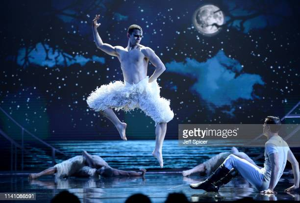 A performance of Swan Lake on stage during The Olivier Awards 2019 with Mastercard at the Royal Albert Hall on April 07 2019 in London England