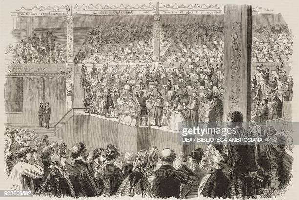 Performance of the Messiah, oratorio by Georg Friedrich Handel, in the Festival Pavilion, Shakespeare Commemoration at Stratford-on-Avon, England,...