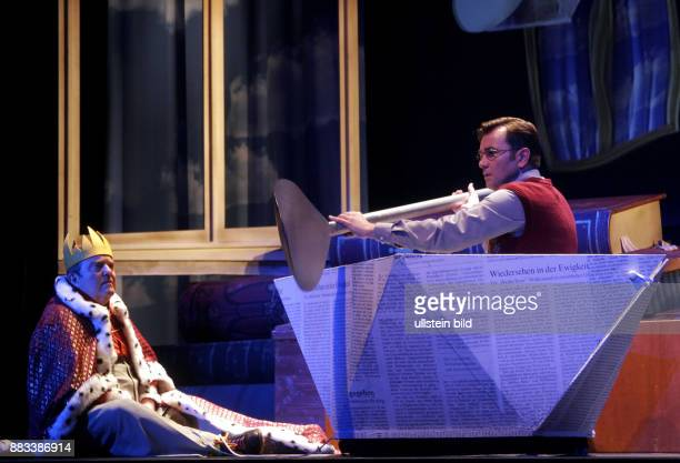Performance of the play Der kleine König Dezember at the Schlosspark Theater Berlin scene from a rehearsal with the actors Matthias Freihof and...