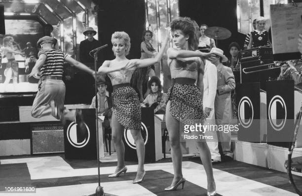 A performance on the set of the television music series 'Top of the Pops' June 9th 1982