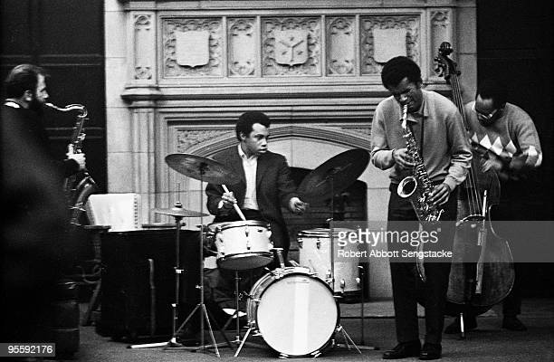 Performance with Alvin Fielder, on drums, and Anthony Braxton, second from right, on the alto sax, held at the University of Chicago, 1968. The other...