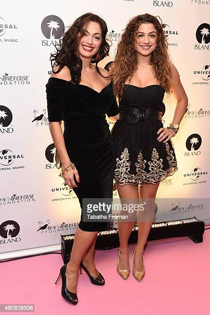 Performer Antigoni Boxton with her Mother Tonia Buxton attend the Amy Winehouse Foundation Gala at The Savoy Hotel on October 15 2015 in London...