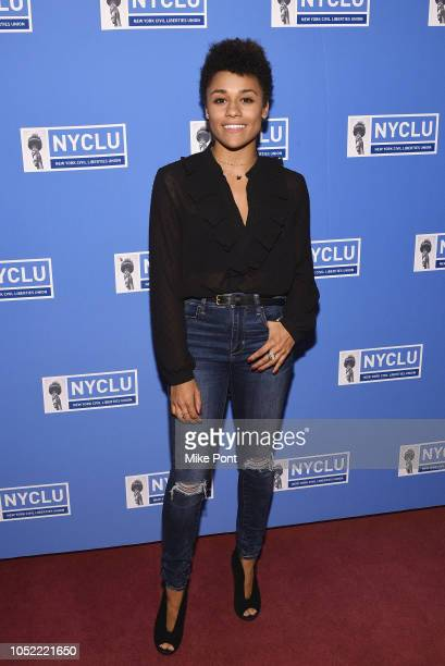 Performer Ariana DeBose attends NYCLU's Broadway Stands Up For Freedom concert 'We The People' on October 15 2018 in New York City