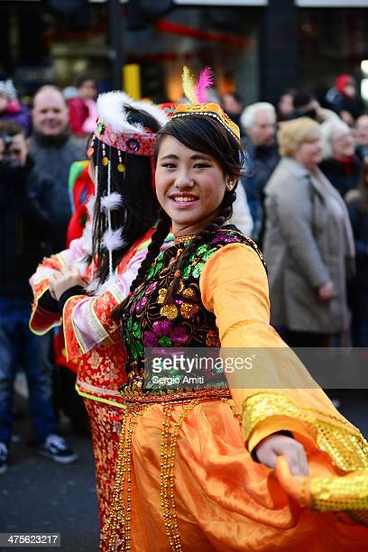 Performer at Chinese New Year parade in London
