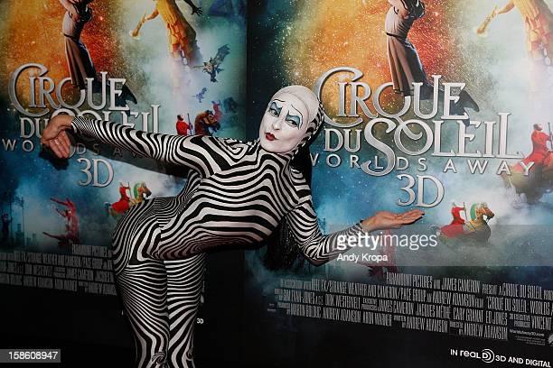 A performer attends Cirque Du Soleil Worlds Away New York Special Screening at Regal EWalk on December 20 2012 in New York City