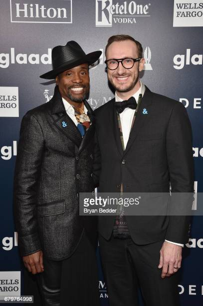 Performer Billy PorterSmith and Adam PorterSmith attend 28th Annual GLAAD Media Awards at The Hilton Midtown on May 6 2017 in New York City
