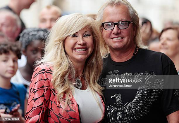 TV performer Carmen and Robert Geiss pose during the 'Die Geissens' photocall at Karstadt warehouse on July 4 2013 in Munich Germany