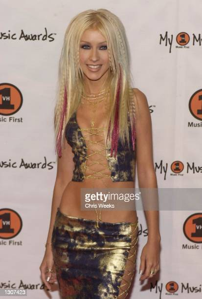 Performer Christina Aguilera arrives at the My VH1 Music Awards November 30 2000 at the Shrine Auditorium in Los Angeles CA