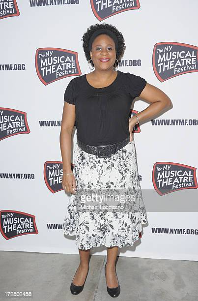 Performer Danielle Lee Greaves attends the 2013 New York Musical Theatre Festival Preview at The Pershing Square Signature Center on July 2 2013 in...