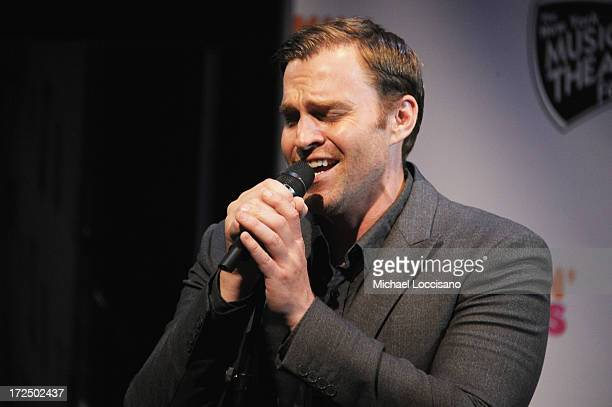 Performer Darren Ritchie performs during the 2013 New York Musical Theatre Festival Preview at The Pershing Square Signature Center on July 2 2013 in...