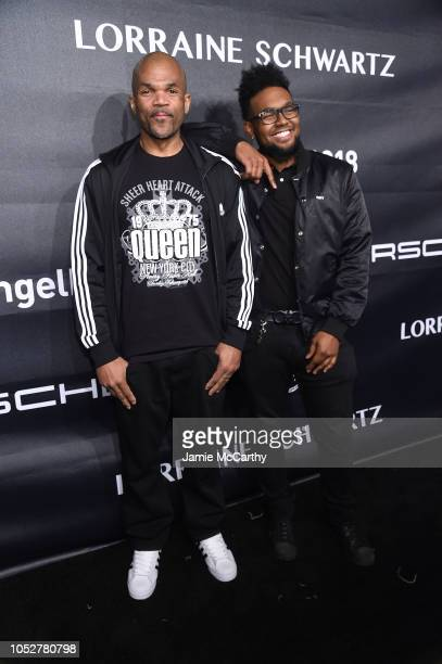 Performer Darryl DMC McDaniels and Darryl M McDaniels Jr attend the 2018 Angel Ball hosted by Gabrielle's Angel Foundation at Cipriani Wall Street on...