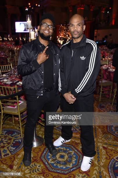 Performer Darryl 'DMC' McDaniels and Darryl M McDaniels Jr attend the 2018 Angel Ball hosted by Gabrielle's Angel Foundation at Cipriani Wall Street...