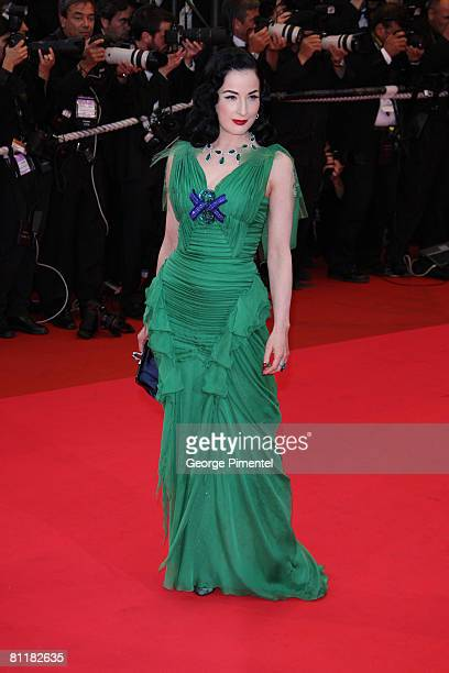 Performer Dita Von Teese attends the Changeling Premiere at the Palais des Festivals during the 61st Cannes International Film Festival on May 20...