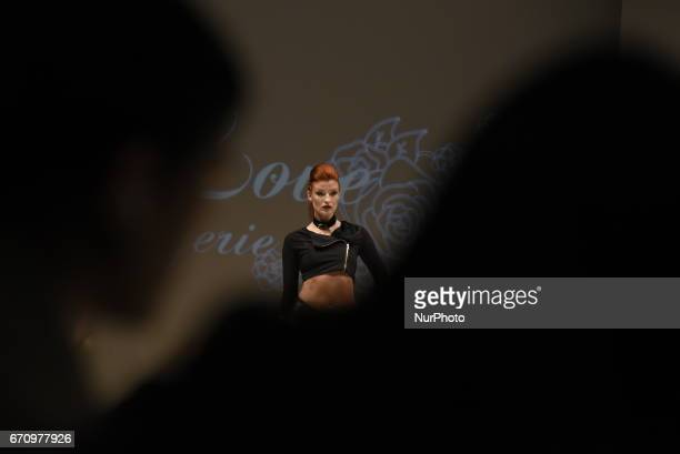 Performer during Fashion Art 2017 in Toronto, Canada, on April 18, 2017. An annual event featuring emerging and innovative fashion design, art &...