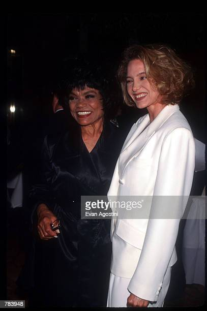Performer Eartha Kitt stands with her daughter Kitt Shapiro at Donald Trump's 50th birthday celebration June 13 1996 in New York City Real estate...
