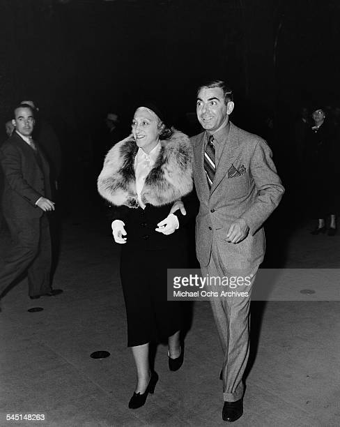 Performer Eddie Cantor and his wife Ida attend an event in Los Angeles California