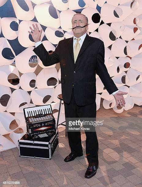A performer enjoys the 'More Than a Cone' art auction and campaign launch benefiting Best Friends Animal Society in Los Angeles where renowned...