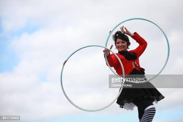 A performer entertains at Electric Picnic Festival at Stradbally Hall Estate on September 1 2017 in Laois