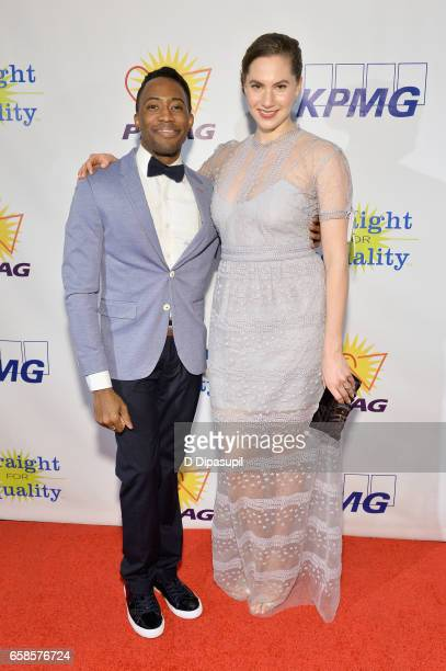 Performer Eric LaJuan Summers and artist/model Emma Hepburn Ferrer attend the ninth annual PFLAG National Straight for Equality Awards Gala on March...