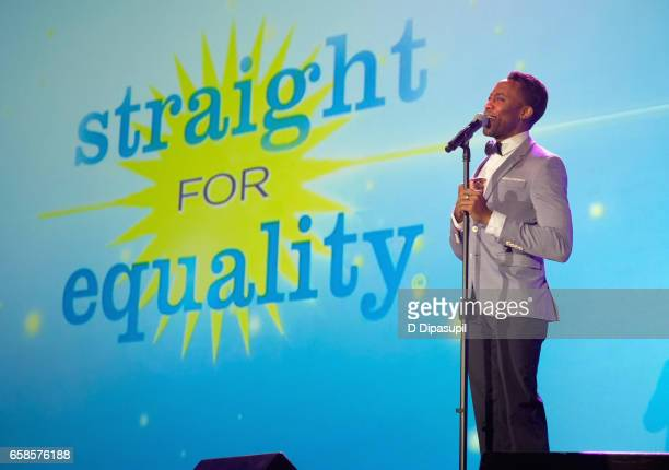Performer Eric LaJuan Summers performs on stage during the ninth annual PFLAG National Straight for Equality Awards Gala on March 27, 2017 in New...