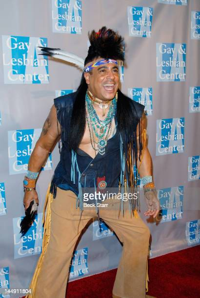 Performer Felipe Rose arrives at the LA Gay Lesbian Center's An Evening With Women at The Beverly Hilton Hotel on May 19 2012 in Beverly Hills...