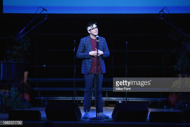 Performer George Salazar appears onstage during NYCLU's Broadway Stands Up For Freedom concert We The People on October 15 2018 in New York City