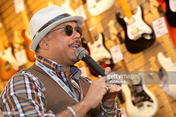 Performer Howard Hewett performs duing Black Music Month at Sam Ash Music Store on June 18, 2014 in Hollywood, California.