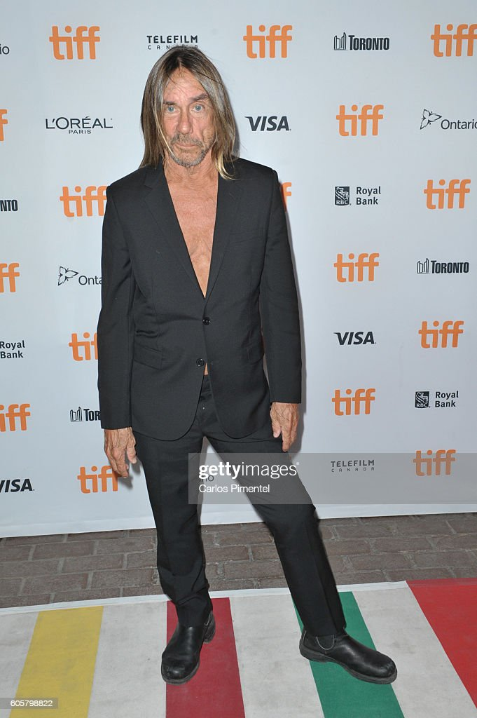 Performer Iggy Pop attends the 'Gimme Danger' Premiere during the 2016 Toronto International Film Festival at Ryerson Theatre on September 14, 2016 in Toronto, Canada.