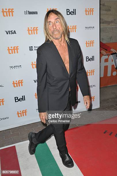 """Performer Iggy Pop attends the """"Gimme Danger"""" Premiere during the 2016 Toronto International Film Festival at Ryerson Theatre on September 14, 2016..."""