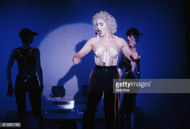 A performer impersonates pop singer Madonna in the La Cage stage show at Bally's Park Place Casino in Atlantic City