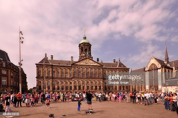 Performer in Dam square, Amsterdam, Netherlands