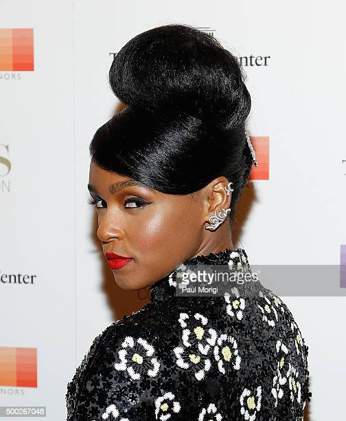 Performer Janelle Monae attends the 38th Annual Kennedy Center Honors Gala at John F Kennedy Center for the Performing Arts on December 6 2015 in...