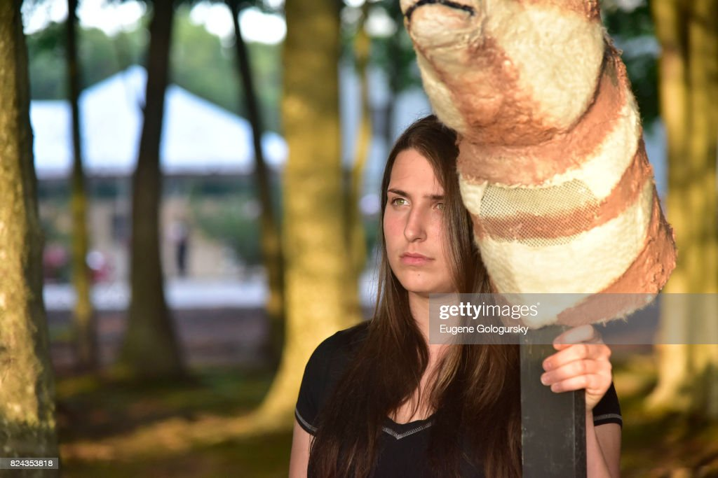 Performer Leah Lane in a Rachel Frank Art Installation at Fly Into The Sun: The 24th Annual Watermill Center Summer Benefit The Watermill Center on July 29, 2017 in Water Mill, New York.